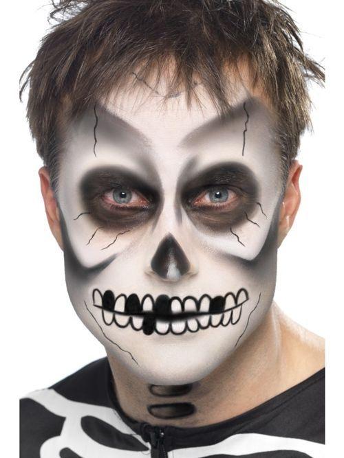 Maquillaje de halloween para hombres altos o bajos, maquillaje hombre lobo, maquillaje la calavera