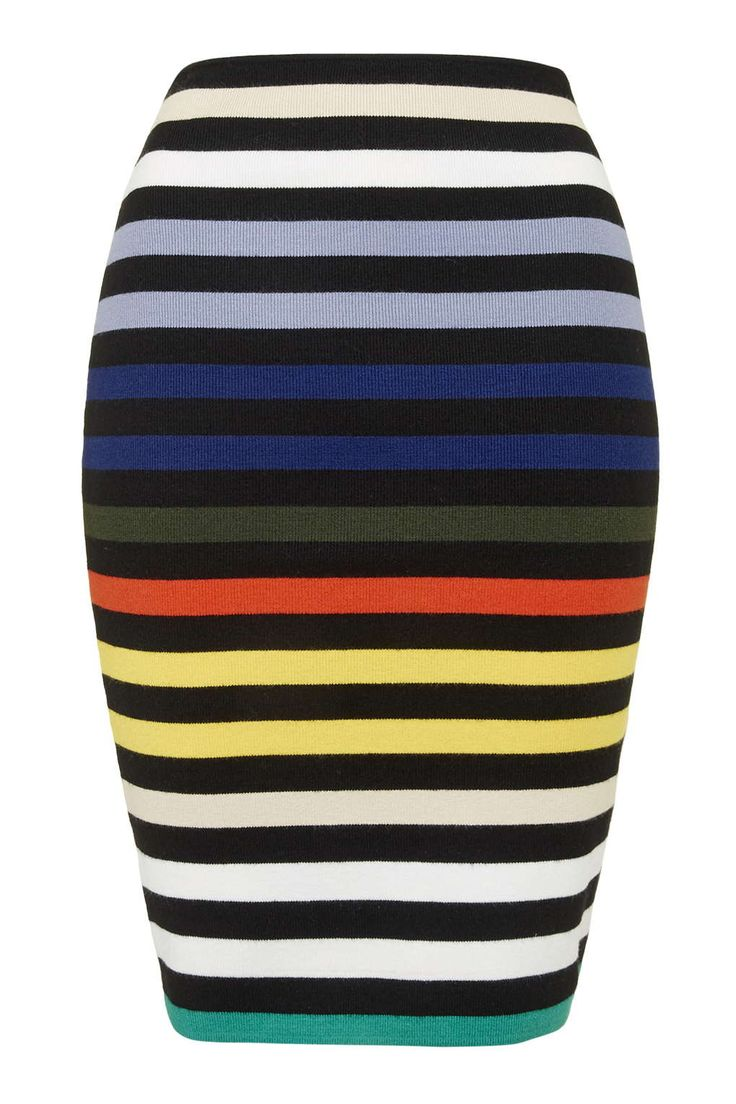**Multicoloured Striped Midi by Glamorous