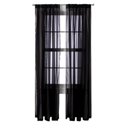 17 Best ideas about Black Sheer Curtains on Pinterest   Blockout ...