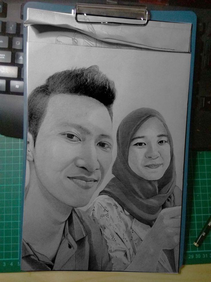 Sketsa Pensil 2 Wajah A4