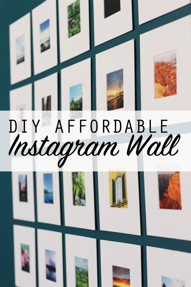 DIY Affordable Instagram Photo Wall