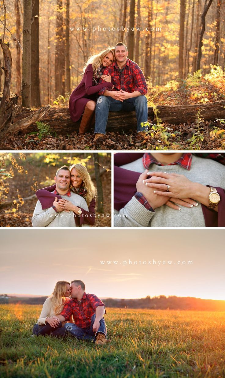 Pennsylvania fall engagement photos ©️️Copyright 2015 Photography by Amanda…