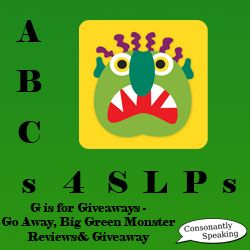 ABCs 4 SLPs: G is for Giveaways - Go Away, Big Green Monster
