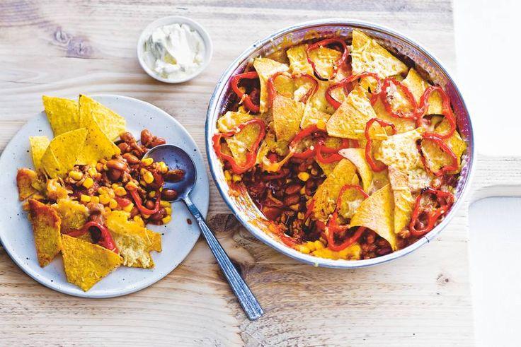 Delicioso! De knapperige tortillachips en de bonen en mais maken het écht Mexicaans - Recept - Allerhande