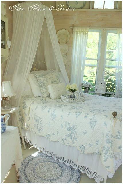 Ideas para decorar tu salon sala y dormitorio en azul - Lamparas estilo shabby chic ...