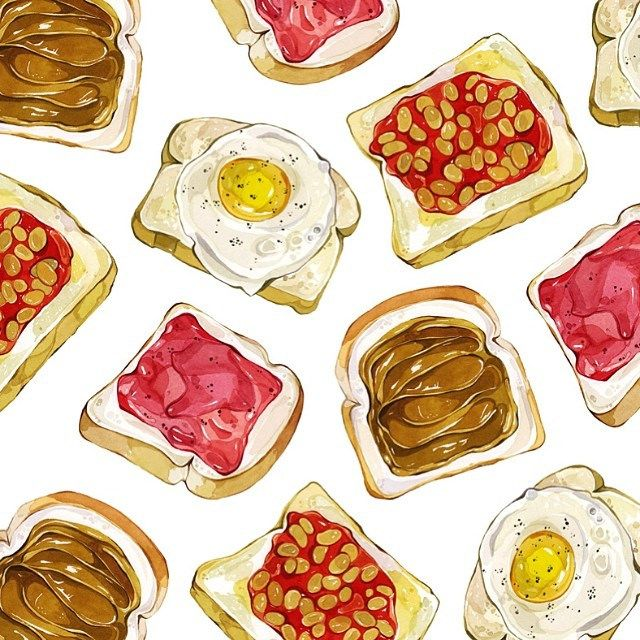 toast egg beans bacon peanut butter if I run out of yoghurt I might have something on toast