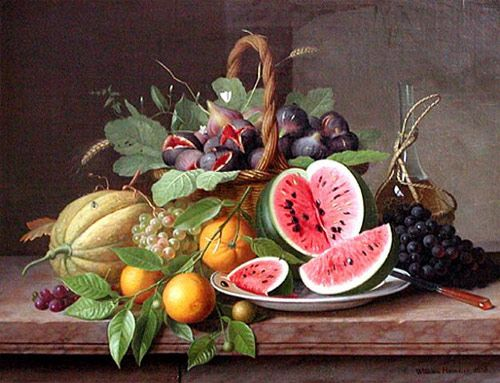 Hammer Still Life with Fruit 1858 - William Hammer (painter) - Wikipedia, the free encyclopedia