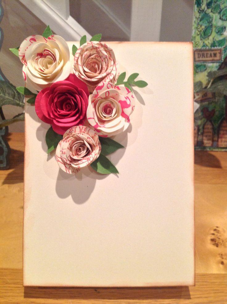 Spiral flower die from Stampin' Up! Pauline Adamson - Pollycraft & Stampin' Up! Demonstrator