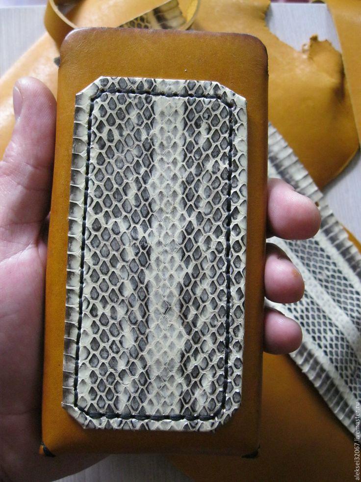 Купить Кожаный чехол для смартфона - звериная расцветка, чехол для телефона, чехол из кожи