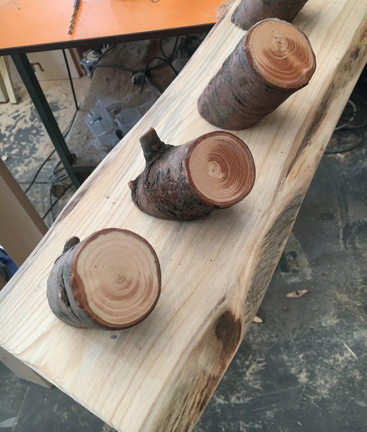 Fascia appendiabiti in legno. Progetto Green, scuola materna, scuola dadà, infanzia, bambino, asilo nido, children design, design for kids, artigianato.