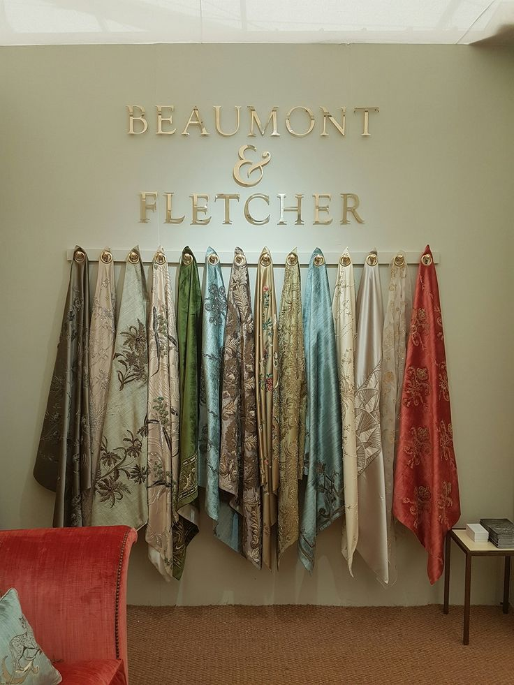 Beaumont & Fletcher couture fabrics on display at our Stand A30A at Decorex 2016.