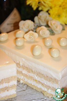 """Торт""""Опера в белом"""" - кулинарный рецепт"""