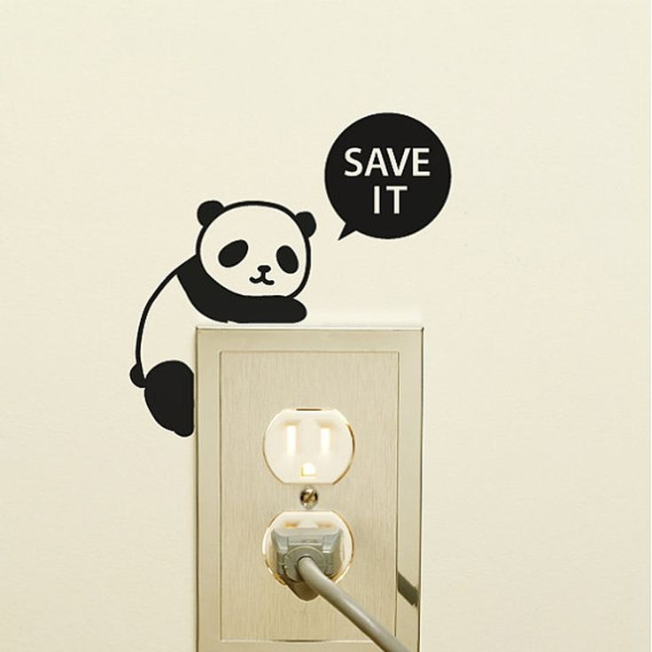 Aliexpress.com : Buy Cartoon Panda Light Switch Sticker Black Wall Decal Stickers for Living Room Bedroom Kids Room Removable Wallpaper Home Decor from Reliable sticker yellow suppliers on Kililaya