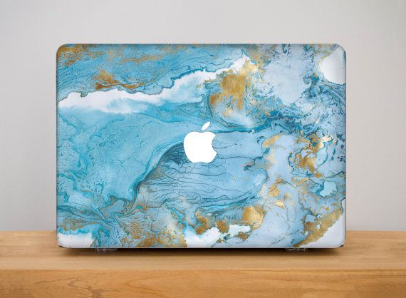 Marble Macbook Pro Case Hard Macbook Case by PinkPiggyStudio
