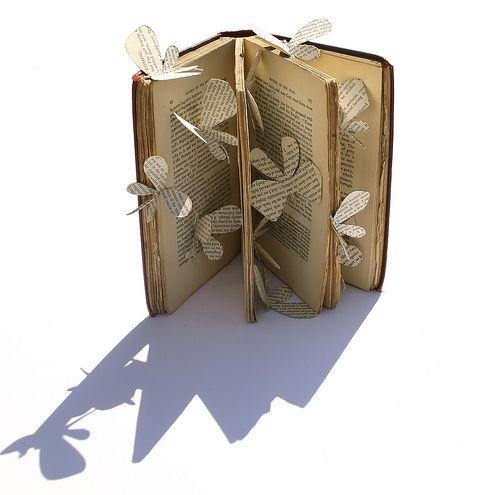 Surprises on every page: Book Art, Book Sculpture, Cut Art, Butterflies Book, Cut Intricate, Book Pages, Paper Cutting Art, Art Tutorials, Book Crafts