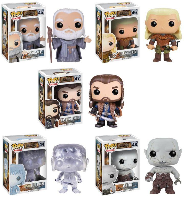 Amazon.com: Funko POP Vinyl Figure Movie the Hobbit 2 Set of 5: Toys  Games