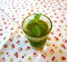 Gaspacho courgettes menthe