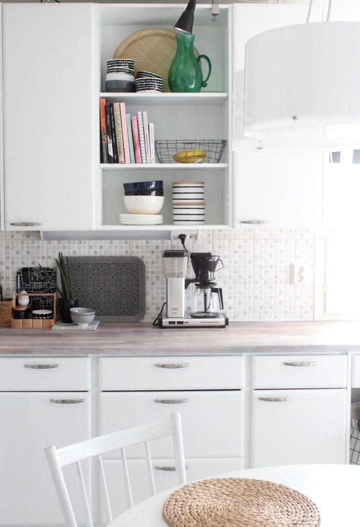Keittiön puutasojen vahaus