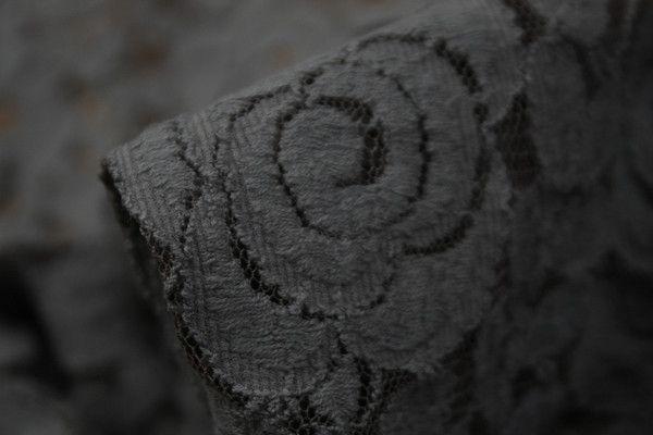 Rose Guipure Teak - Stretch Lace - Stretch lace - @Tessuti Fabrics - Online Fabric Store