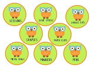 Teach it With Class: Free Owl Labels