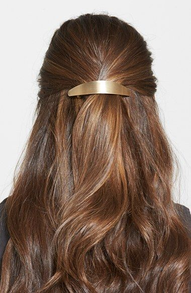 Free shipping and returns on L. Erickson 'Ellipses' Volume Barrette at Nordstrom.com. A wide barrette finished in brushed metallic hues is a perfect choice for holding extra-thick tresses.