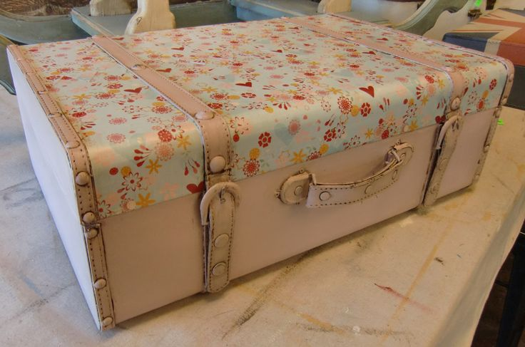 Painted vintage suitcase in Antoinette Chalk Paint® by Annie Sloan by Jen's…