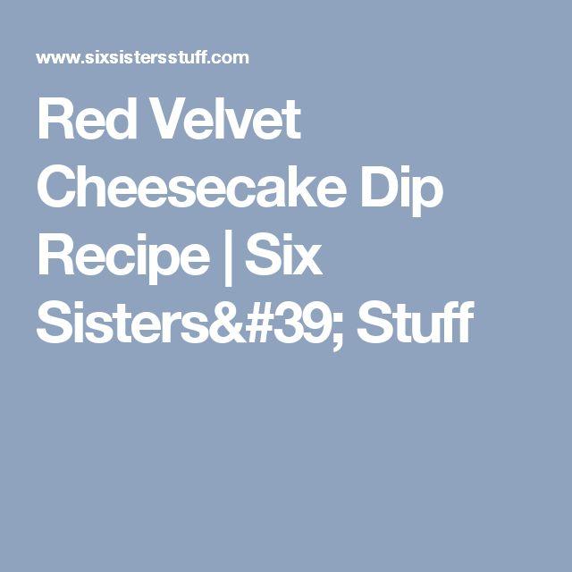 Red Velvet Cheesecake Dip Recipe | Six Sisters' Stuff