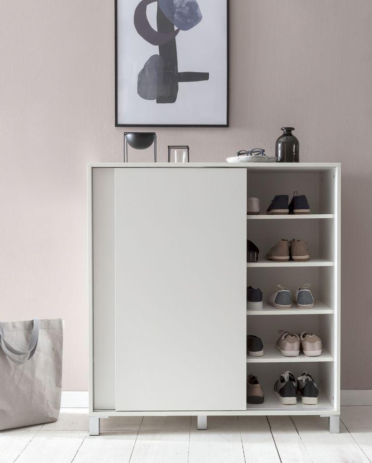 Schuhschrank Schwarz Weiß
