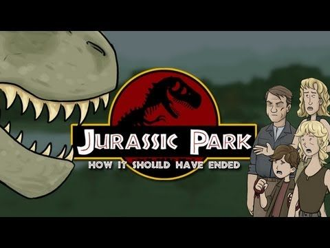 How Jurassic Park Should Have Ended These are stillmfunny even if you havent seen these movies.