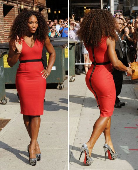 Google Image Result for http://stylefrizz.com/img/Serena-Williams-Late-Show-tight-red-dress-Victoria-Beckham.jpg