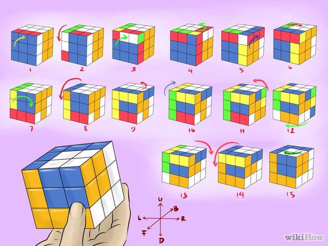 7 formas de hacer patrones con el cubo de Rubik - wikiHow