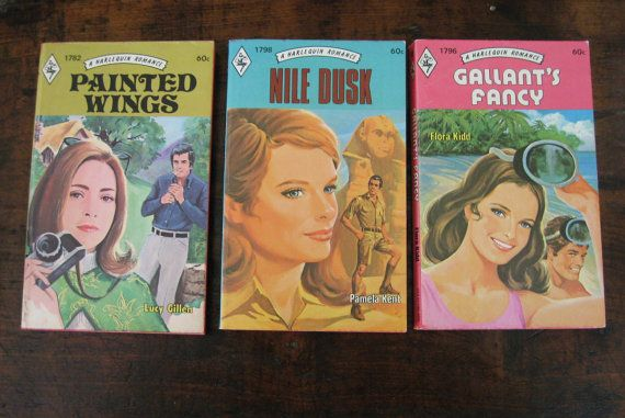 Vintage Harlequin Romance Novels Lot of Three by TALKINGROCKBOOKS