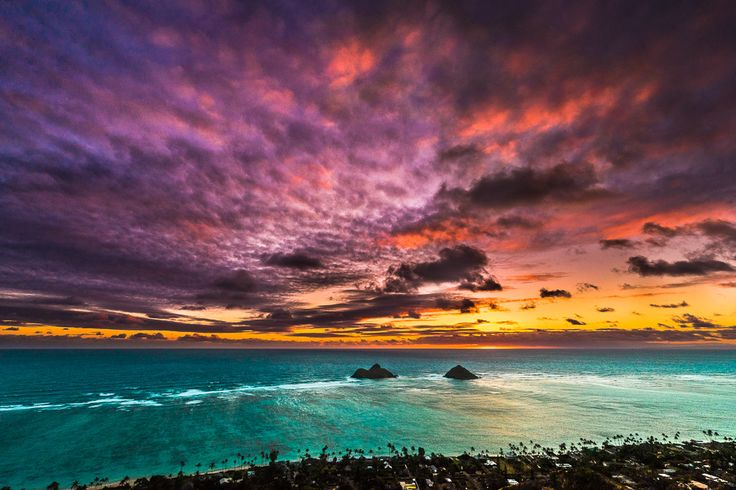 Lanikai Pillbox Trail overlooks Lanikai Beach and the Mokolua's out in the ocean. Start your morning with an amazing sunrise hike overlooking the beach.