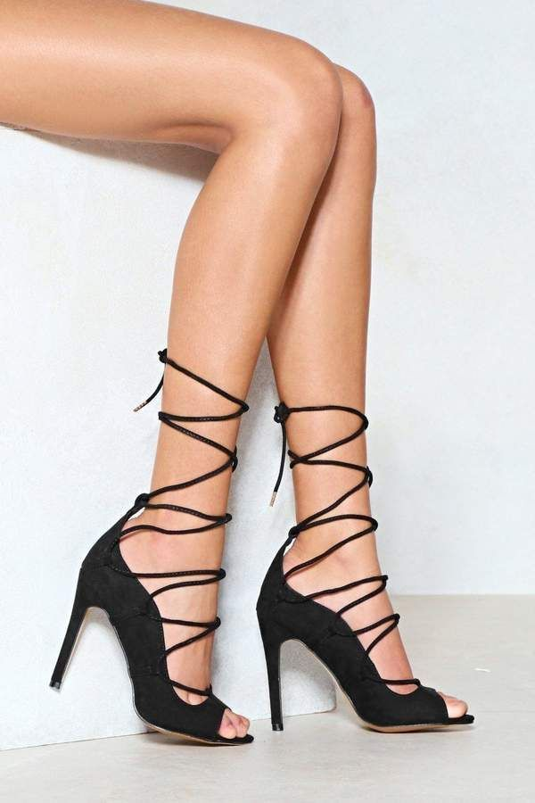 28893295767 Nasty Gal You re a Catch Lace-Up Heel  ad  lacemeup  love  musthave ...