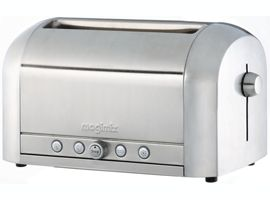 Magimix Brushed Stainless Steel 4 Slice Professional Toaster