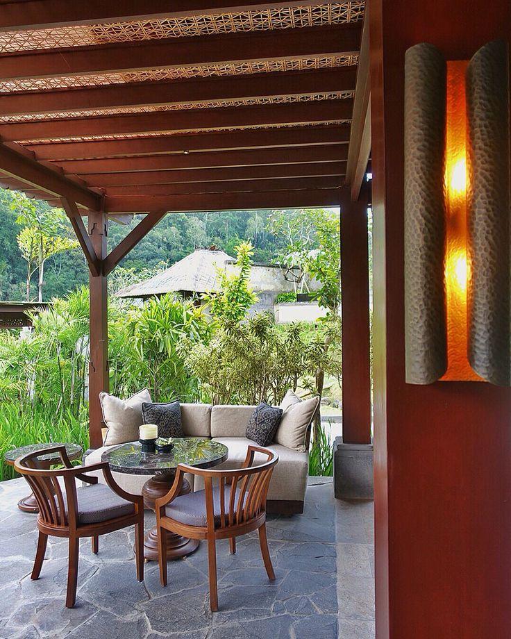 Details design of Pool Restaurant at Mandapa Reserve Ubud.  Designed by #MilesHumphreysArchitect