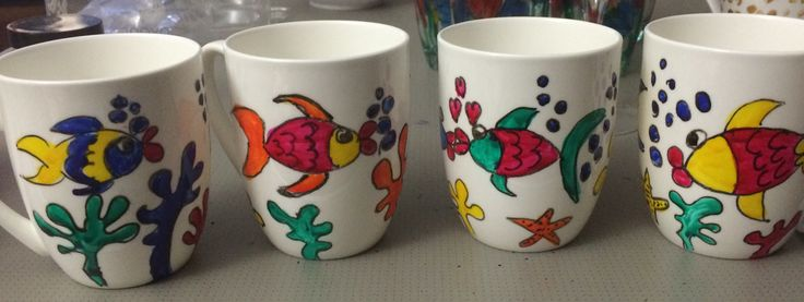 More of my hand painted mugs available at my pop up shop 7 May BRISBANE see Igram LOUISEMKENTDESIGN for details