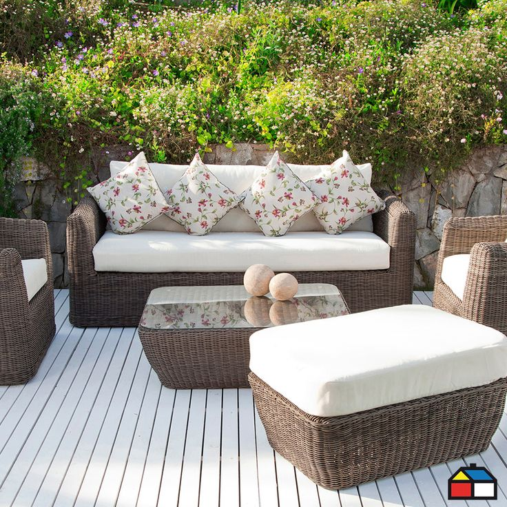 Juego #terraza Provence aluminio con ratán PE 5 piezas