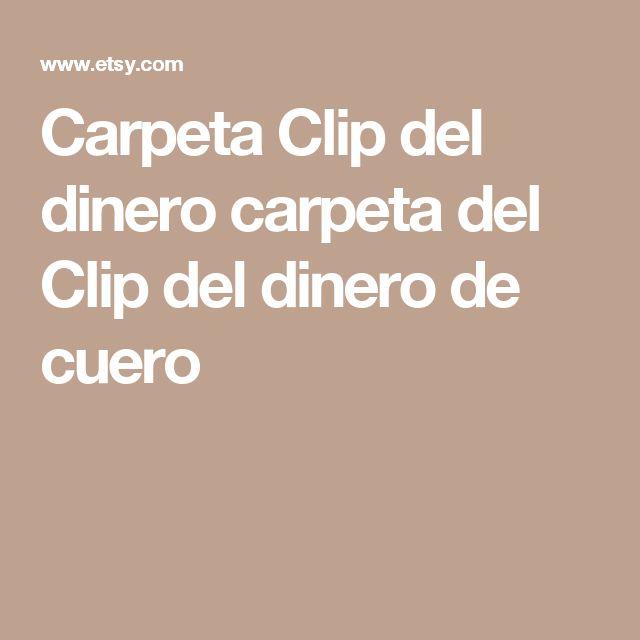 Carpeta Clip del dinero carpeta del Clip del dinero de cuero