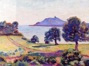 Agay The Chateau And The Signal Tower  Armand Guillaumin