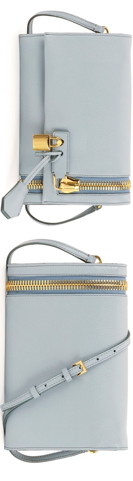 Tom Ford Alix Small Zip & Padlock Crossbody Bag, Light Blue  LOOKandLOVEwithLOLO
