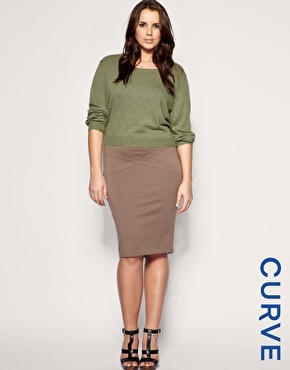 Love the Tan. I can't find a pencil skirt that I love yet... but this is close!