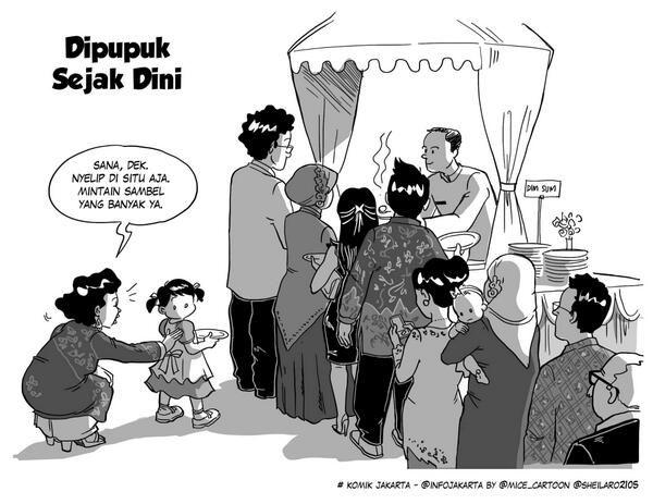 Dipupuk Sejak Dini #KomikJakarta @sheilaro2105