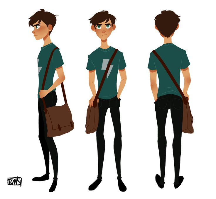 If he's a student, maybe he could look something like this? I like the shoulder book bag, he looks like a good kid, determined to achieve a better life.