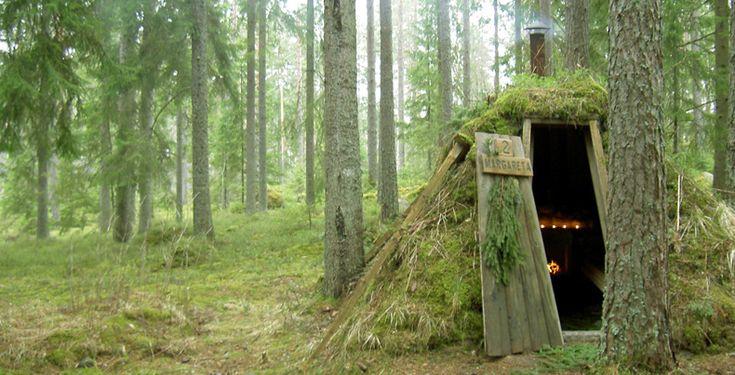 Sweden's Kolarbyn - primitive eco lodges