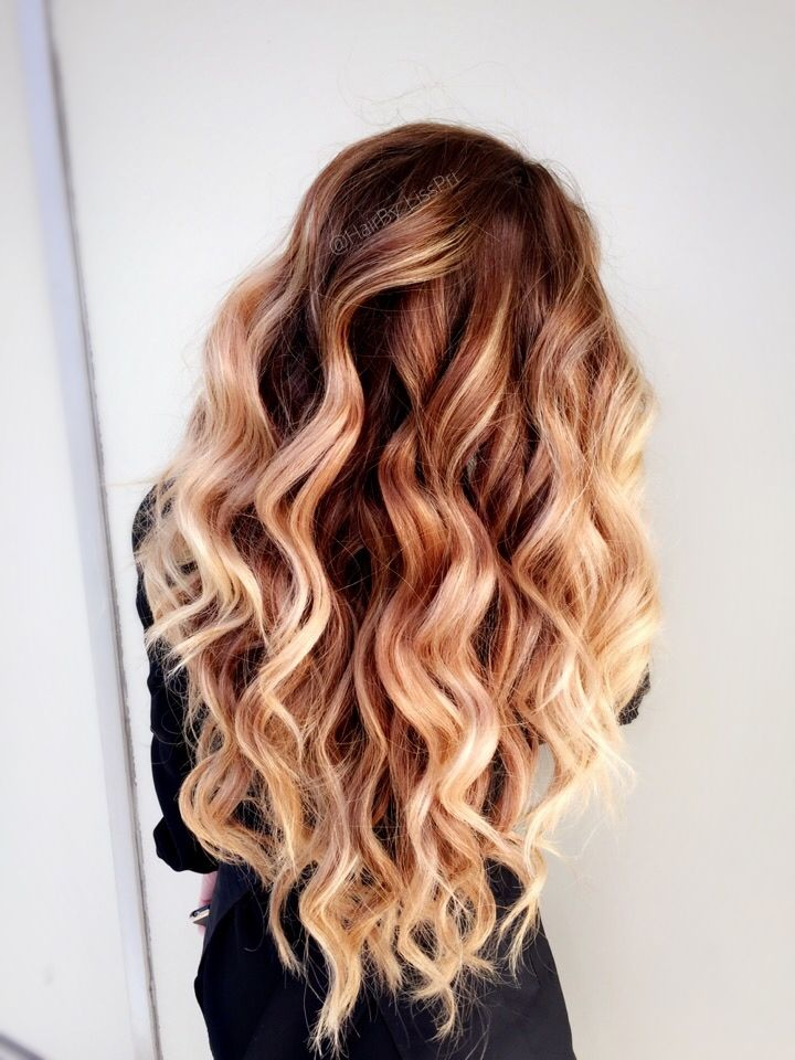 Long Beach Waves Brunette To Golden Blonde Balayage Honey Hair Shadow Rooted