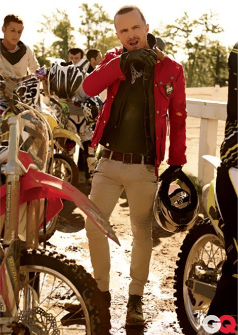 Motocross jacket & boots.   Aaron paul, Fashion, What to