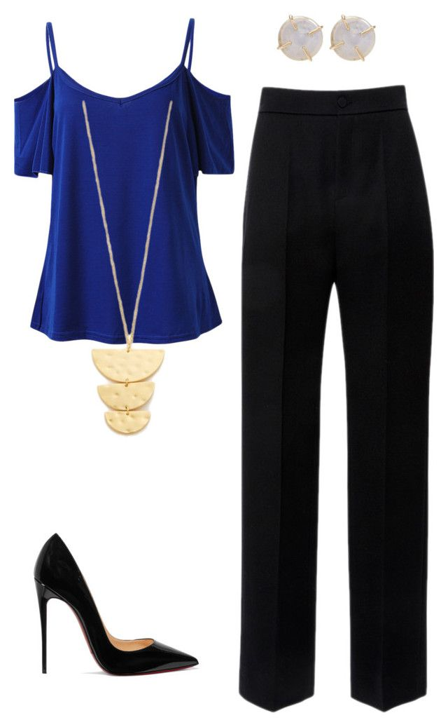 mom by luziagalvang on Polyvore featuring moda, Lanvin, Christian Louboutin, Melissa Joy Manning and Gorjana