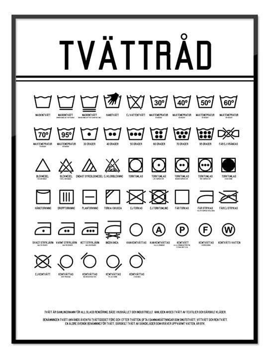 Poster Tvättråd