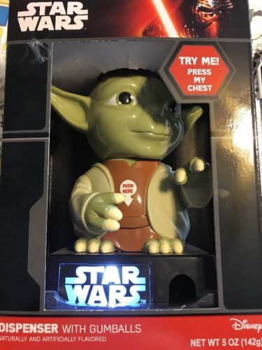 Disney-Star-Wars-Talking-Yoda-Gumball-Dispenser-Candy-Jedi-Knight-The-Force